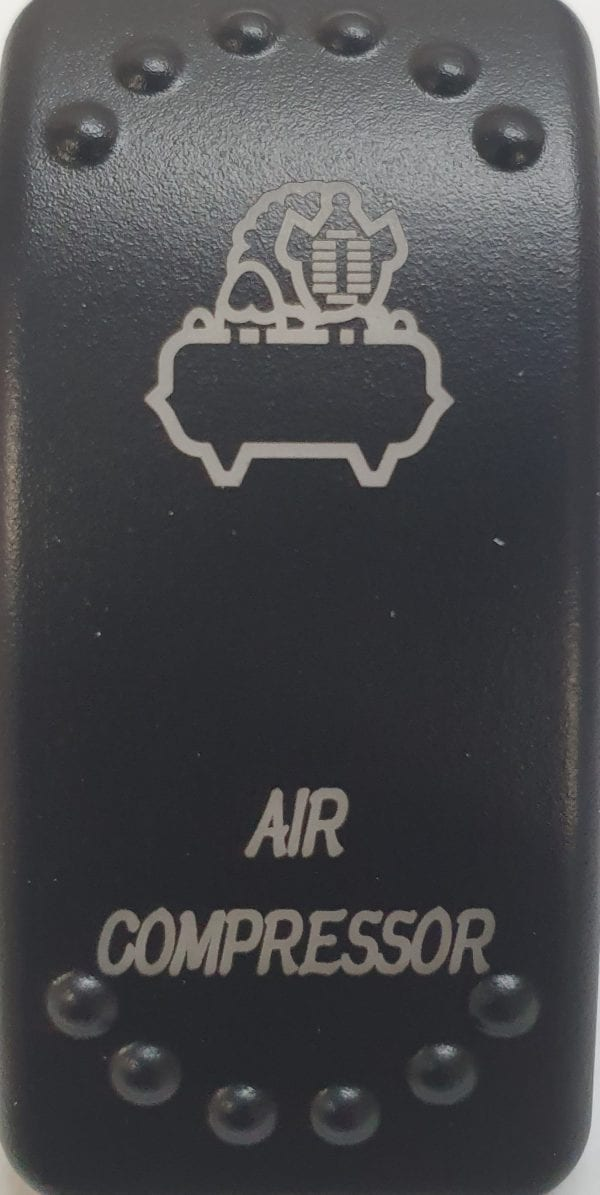 Air Compressor Laser Etched Rocker Switch
